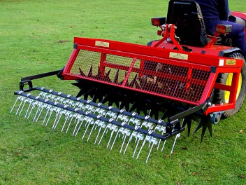 dethatching rake for 60 inch lawn care system