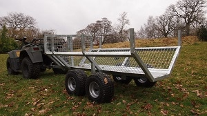 atv timber trailer rear view