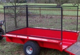 atv trailer with mesh extensions