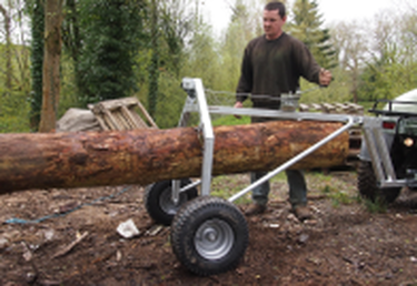 atv timber  log arch comes with winch