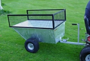 galvanised atv trailer with wide profile wheels
