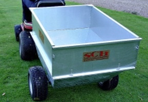 large capacity galvanised smallholder trailer with wide profile wheels