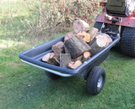 smallholder trailer with logs