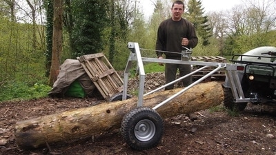 loading atv timber log arch