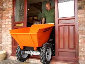 muck truck power barrow can fit through garden side gates and narrow areas