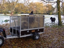 smallholder trailer for animals and bulky loads