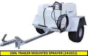 200L trailer mounted sprayer (141021)