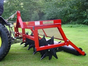 deep mounted slitter for 60 inch garden care system