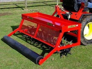 mounted deep aerator for 60 inch lawn care system