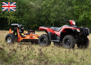 ATV flail mower with Honda fuel injection engine
