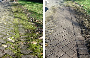 block paving before and after cleaning