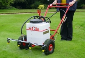 manual or compact tractor sprayer for lawns or paddocks
