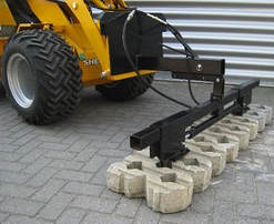 4-in a row grass tile clamp attachment