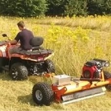 ATV flail mower for topping paddocks