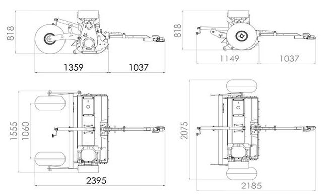 fm120 flail mower dimension drawing