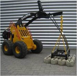 mini skid steer with clamp for 2x2 grass tiles