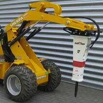 mini loader 200 with hyddraulic breaker attachment