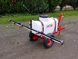 narrow access towable sprayer