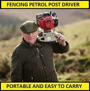 portable petrol post driver