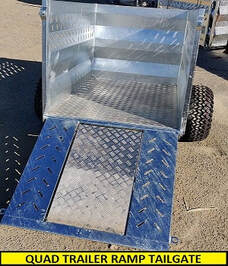 quad trailer with ramp tailgate