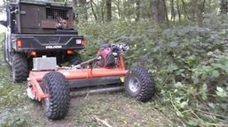 atv flail mower for woodland