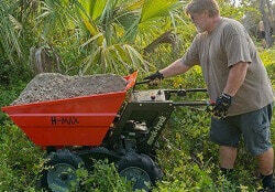 h max power barrow for landscaping projects
