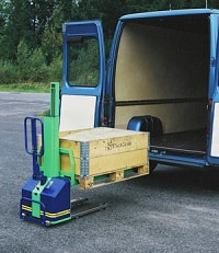 self loading van pallet stacker