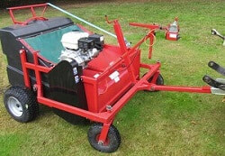 leaf sweeper collector with honda engine