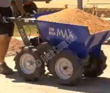 max dumper with sand
