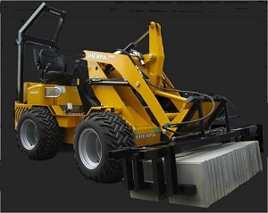 mini loader with tile clamp attachment