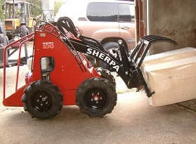 mini skid steer for narrow access areas
