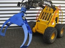 mini skid steer tree grab