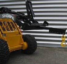 mini skid steer lifting arm and hook attachments