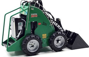 mini skid steer with bucket attachment