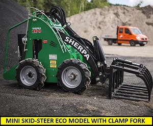 mini skid steer ECO with clamp fork