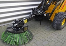 plastic and steel weed brush attachment
