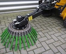 mini skid steer steel weed brush attachment