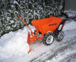 muck truck snow plough accessory