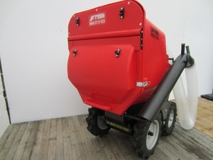 PC450 self propelled paddock cleaner on a muck truck power barrow