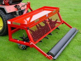 deep mounted slitter with replacement tines for 60 inch garden care system