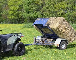 ATV bale trailer for round and square bales