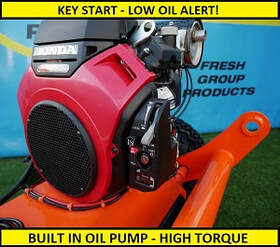 atv flail mower with built in oil pump