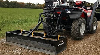 ATV loader hydraulic box grader