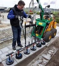 mini skid steer hydraulic curbstone lifter attachments