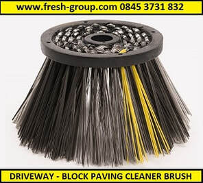 driveway cleaner with optional brushes