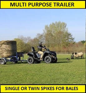 multi purpose trailer with bale spikes