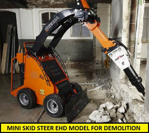 mini skid steer EHD for demolition