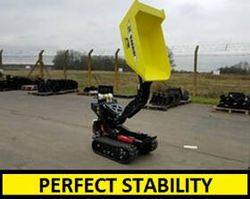 mini tracked dumper with perfect stability