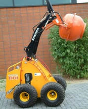 hydraulic concrete mixer attachment for mini skid steer