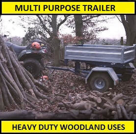 multi purpose trailer for woodland uses